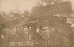 Wreck of Rutland Milk Train Near Hicks Crossing