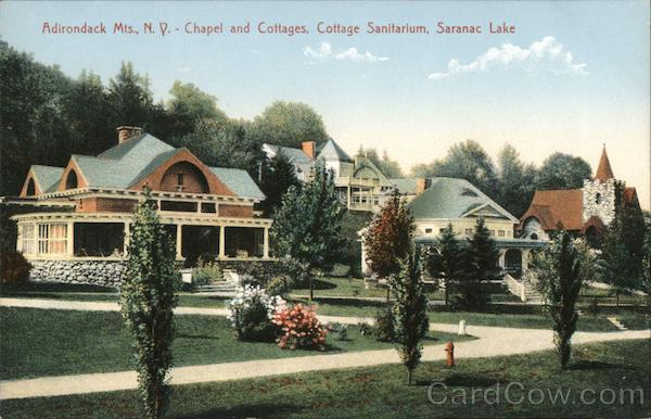 Adirondack Mountains - Chapel and Cottages - Cottage Sanitarium Saranac Lake New York