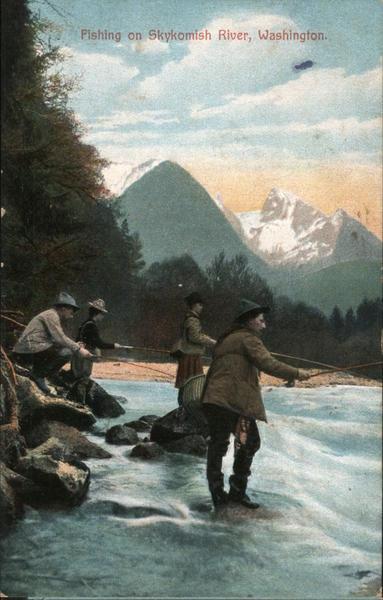 Fishing on the Skykomish River Washington