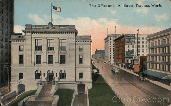 Post Office and A Street Tacoma Washington
