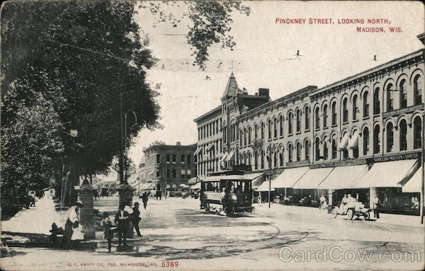 Pinokney Street, looking North Madison Wisconsin