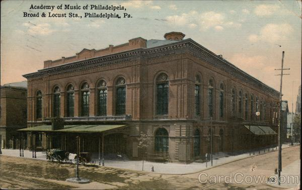 Academy of Music of Philadelphia Pennsylvania