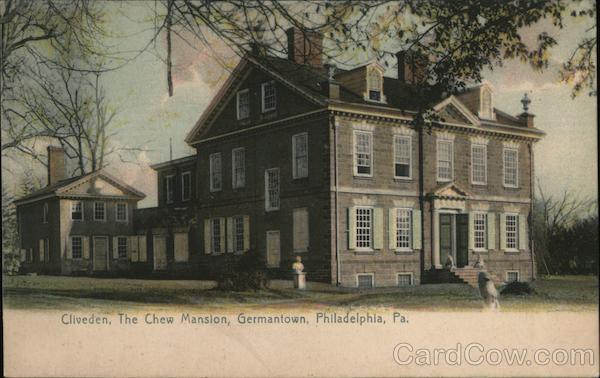 Cliveden, The Chew Mansion, Germantown Philadelphia Pennsylvania