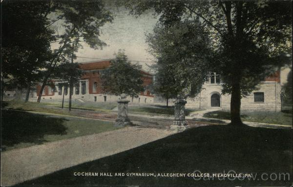 Cochran Hall and Gymnasium, Allegheny College Headville Pennsylvania