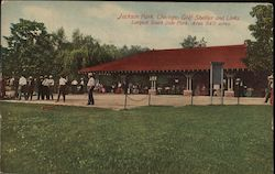 Jackson Park, Golf Shelter and Links Postcard