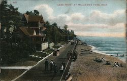 Lake Front at Macatawa Park Postcard