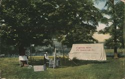 Camping Near Ft. Sheridan Postcard