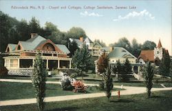 Adirondack Mountains - Chapel and Cottages - Cottage Sanitarium Postcard