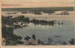 Main Channel . Thousand Islands, St. Lawrence River Postcard