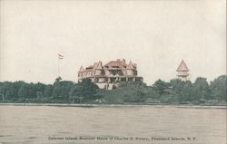 Calumet Island, Summer Home of Charles G. Emery Postcard