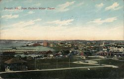 Everett From Ruchers Water Tower Postcard