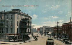 The Golden Block and Grand Avenue Postcard