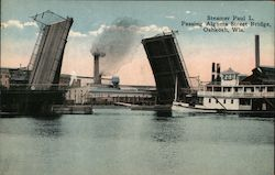 Steamer Paul L. Passing Algoma Street Bridge