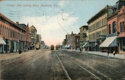 College Avenue looking West Postcard