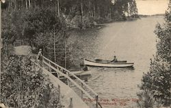 Prospect Park - Wisconsin River Tomahawk, WI Postcard