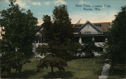 Rear View of Country Club Postcard