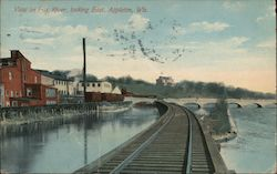 View on Fox River looking East Postcard