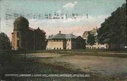 Observatory, Gymnasium & Science Hall - Lawrence University Postcard