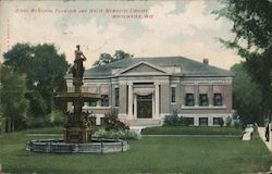 Birge Memorial Fountain and White Memorial Library