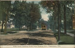 Fifth Street Looking North From Western Avenue Postcard