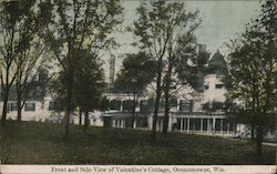 Front and Side View of Valentine's Cottage Postcard