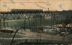 Street Car Bridge in Waukesha Interurban Line