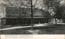 Plymouth Meeting House - Used as hospital during the battle of Germantown Postcard