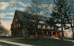 Phi Kappa Psi Fraternity House - Allegheny College Postcard
