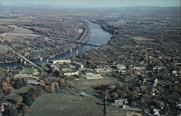 Aerial View of Shepherd College and Potomac River Shepherdtown West Virginia