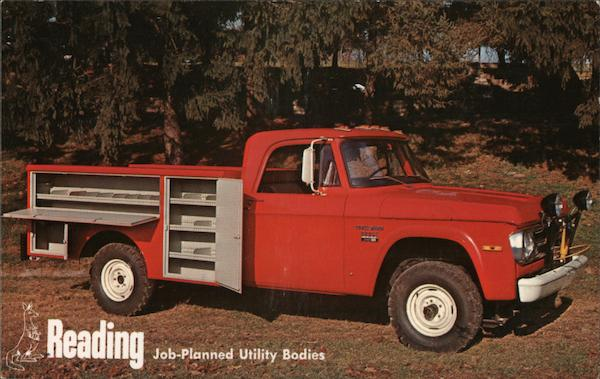 Reading Utility Body >> Reading Job Planned Utility Bodies Trucks Postcard