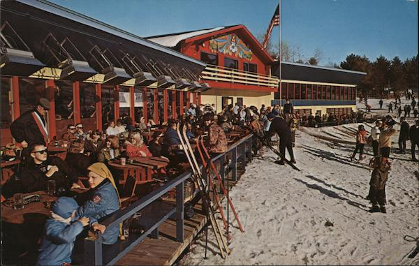 Chalet and sundeck, Mount Telemark Cable Wisconsin