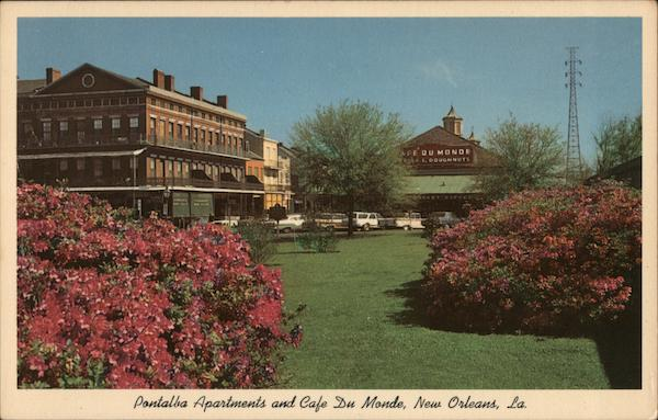 Pontalba Apartments and Cafe Du Monde New Orleans Louisiana