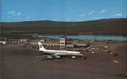 The Modern Internaional Fairbanks Airport Postcard