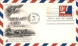 Nine Cent Air Mail Card, First Day of Issue Postcard