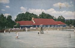 The Tennis Club and Some of the 8 Clay Courst at the Inn Postcard