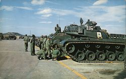 """Tanks and Troops"" Postcard"