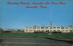 Standing Retreat, Amarillo Air Force Base Postcard