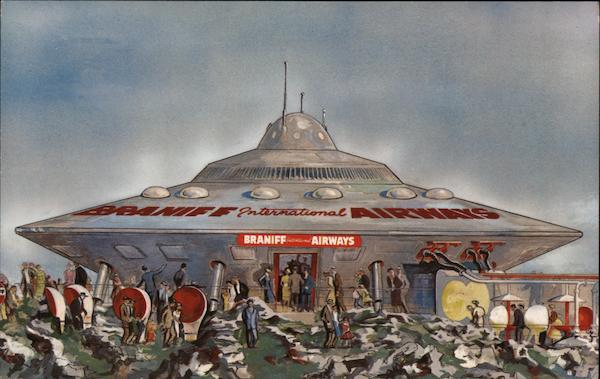 Braniff International Airways Spaceship - Freedomland, U.S.A.