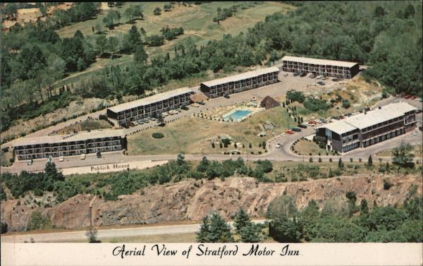 Aerial View of Stratford Motor Inn Connecticut