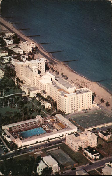 Aerial View of Hollywood Beach Hotel and Pool Hollywood-by-the-Sea Florida