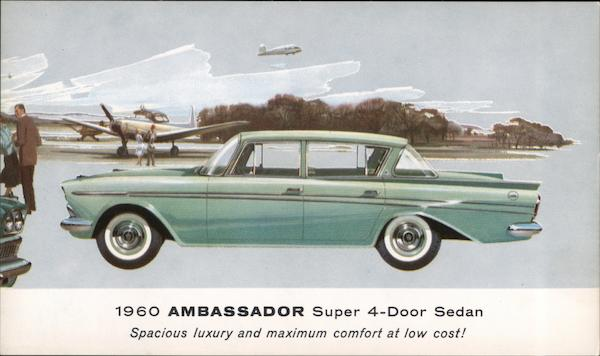 1960 Ambassador Super 4-Door Sedan Cars