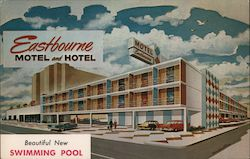 Eastbourne Motel and Hotel Postcard