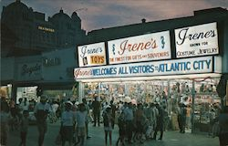 Irene's Welcomes all Visitors to Atlantic City Postcard
