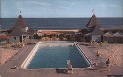 Pool and Ocean, Long Island Postcard