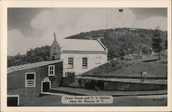 Power House and T.V. Station, Mt. Beacon Postcard