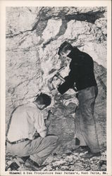 Mineral and gem prospectors near Perham's
