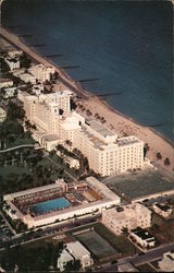 Aerial View of Hollywood Beach Hotel and Pool