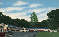 Bay State Motel Postcard