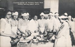 Cooking Group of Indiana State Fair School Postcard