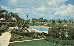 Swimming Pool & Golf Course at Country Club Motel, Cape Coral, Florida
